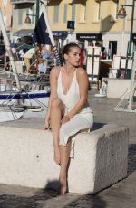 BARBARA PALVIN on the Set of a Photoshoot in St. Tropez 07/25/2017