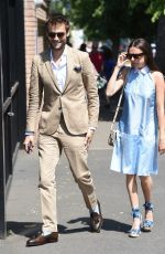 BEL POWLEY Arrives at Wimbledon Tennis Championships in London 07/10/2017