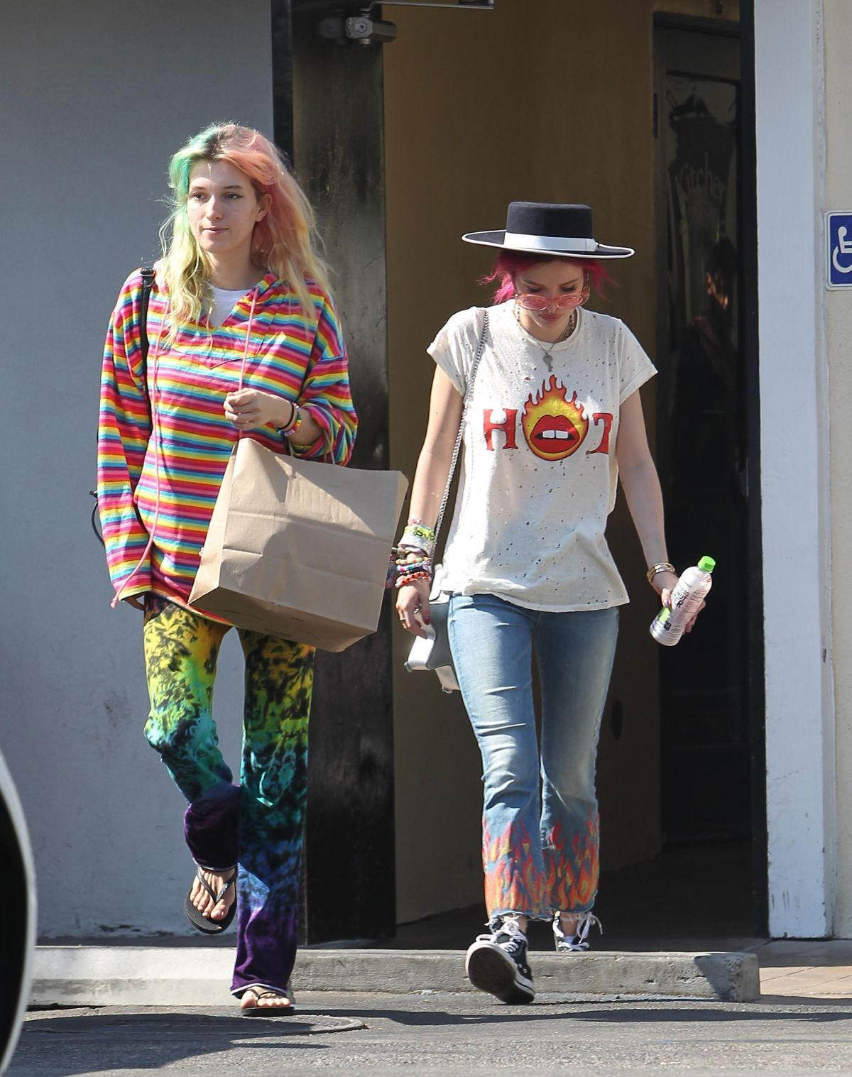 BELLA and DANI THORNE at Sweet Butter Kitchen in Los Angeles 07/05/2017