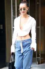 BELLA HADID in Jeans Leaves Her Apartment in New York 07/18/2017