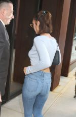 BELLA HADID in Tight Jeans Out in New York 07/19/2017