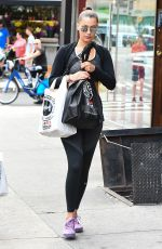 BELLA HADID in Tights Out Shopping in New York 07/25/2017