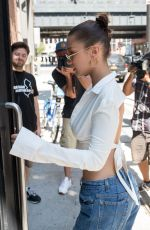 BELLA HADID Leaves Milk Studios in New York 07/18/2017