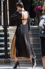 BELLA HADID on the Set of a Photoshoot for Loewe in Paris 07/05/2017
