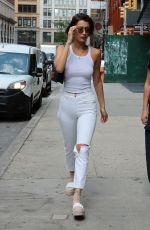 BELLA HADID Out and About in New York 07/17/2017