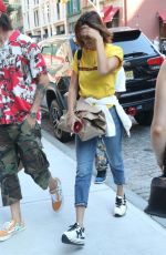 BELLA HADID Out and About in New York 07/26/2017