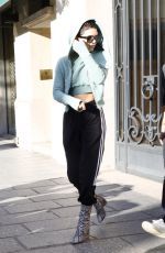 BELLA HADID Out and About in Paris 07/01/2017