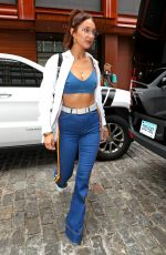 BELLA HADID Out in New York 07/28/2017