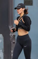 BELLA HADID Out Jogging in New York 07/24/2017