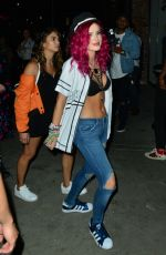BELLA THORNE Arrives at Beauty & Essex in Hollywood 07/15/2017