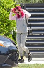 BELLA THORNE Heading to a Gym in Los Angeles 07/14/2017