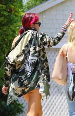 BELLA THORNE in Cutoff and Open-front Vest Out in Los Angeles 07/11/2017