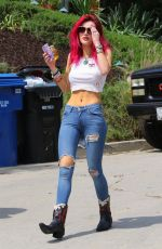 BELLA THORNE in Ripped Jeand Out in Pasadena 13/07/2017