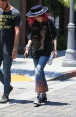 BELLA THORNE Out and About in Hollywood 07/06/2017
