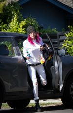 BELLA THORNE Out and About in Los Angeles 07/21/2017