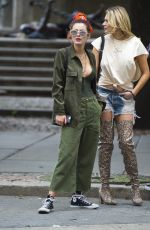 BELLA THORNE Out and About in New York 07/08/2017