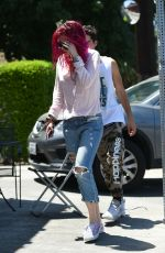 BELLA THORNE Out for Breakfast in Los Angeles 07/22/2017