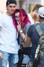 BELLA THORNE Out in New York 07/19/2017