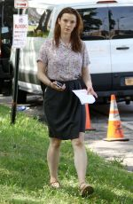 BETTY GILPIN on the Set of Isn