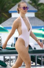 BIANCA ELOUISE in Swimsuit at a Beach in Miami 07/20/2017