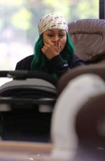 BLAC CHYNA at a Nail Salon in Hollywood 07/07/2017