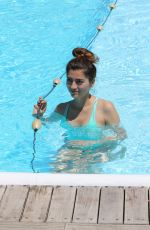 BLANCA BLANCO in Swimsuit at a Pool in Ischia 07/10/2017
