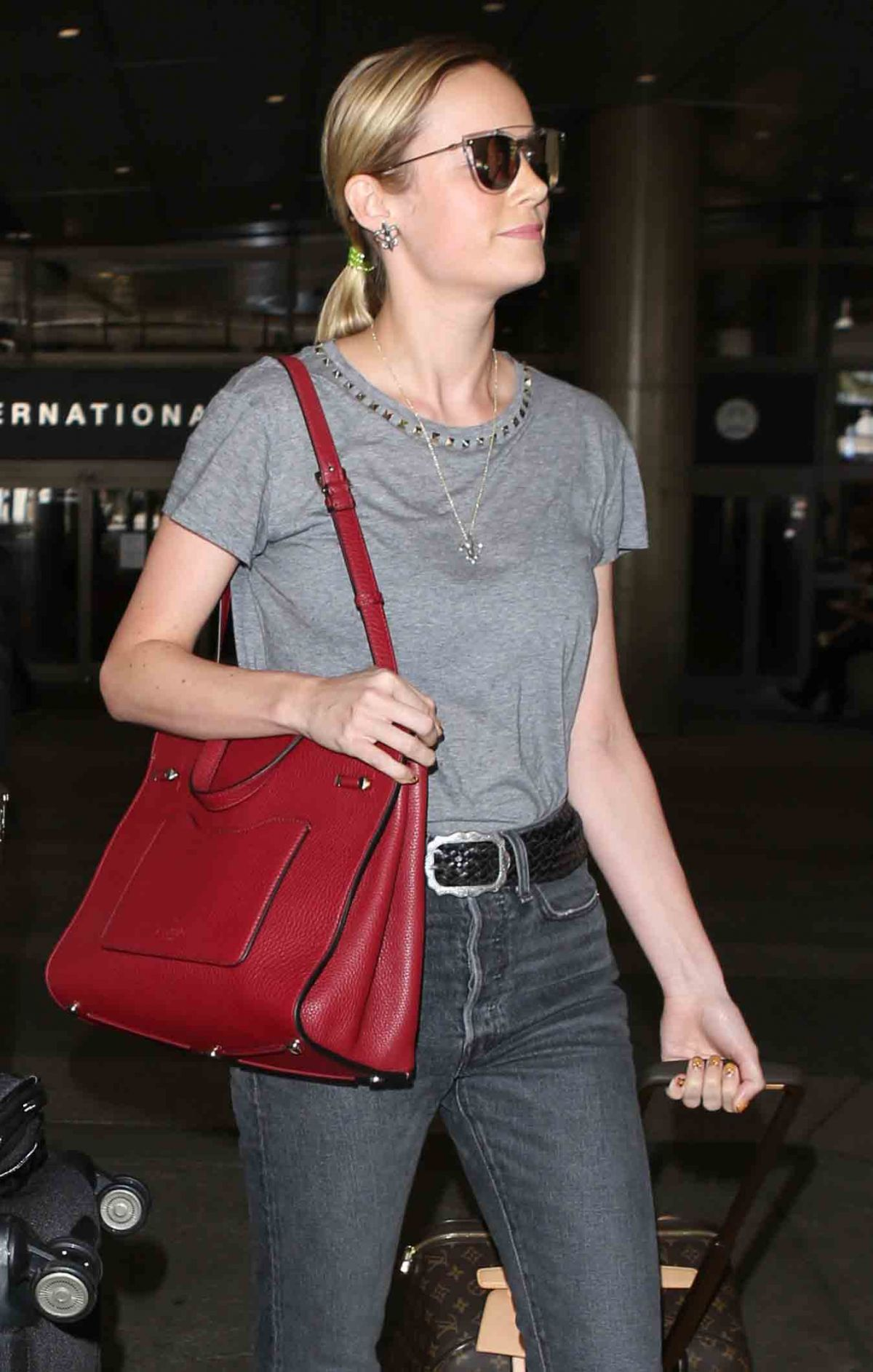 BRIE LARSON at LAX Airport in Los Angeles 07/07/2017