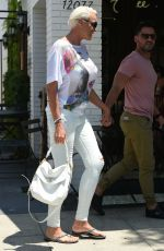 BRIGITTE NIELSEN Out for Lunch in Los Angeles 07/06/2017