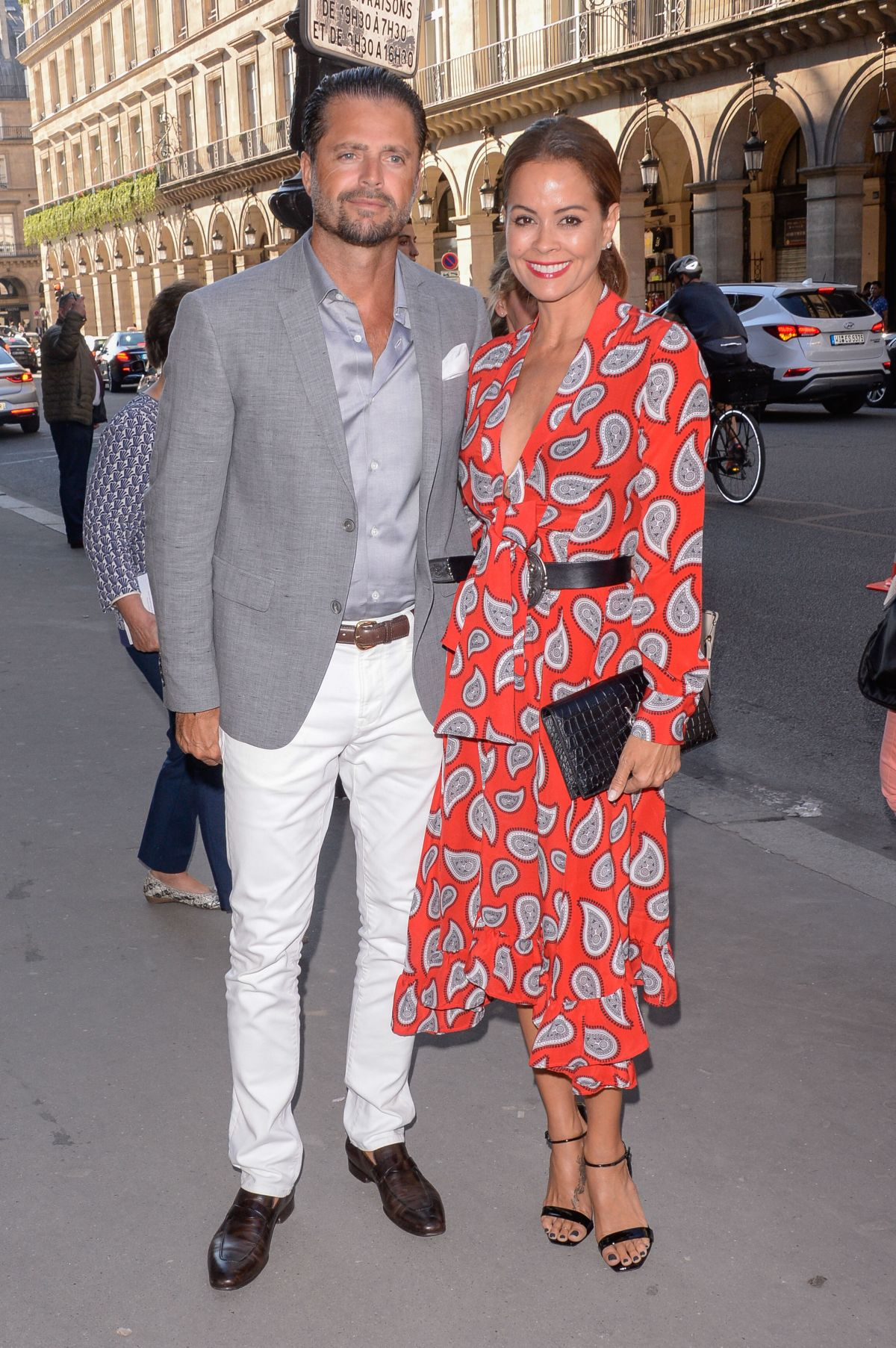 BROOKE BURKE Arrives at Christian Dior Show at Haute Couture Fashion Week in Paris 07/03/2017