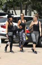 BROOKE BURKE with Friends Leaves a Gym in Malibu 07/16/2017