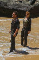 BRYCE DALLAS HOWARD on the Set of Jurassic World 2 in Hawaii 07/07/2017