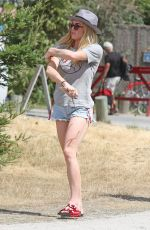 CAITY LOTZ on the Set of Legends of Tomorrow in Vancouver 07/20/2017