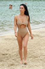 CALLY JANE BEECH in Swimsuit on the Beach in Ibiza 07/26/2017