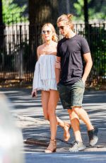 CANDICE SWANEPOEL and Hermann Nicoli Out to Brunch in New York 07/04/2017