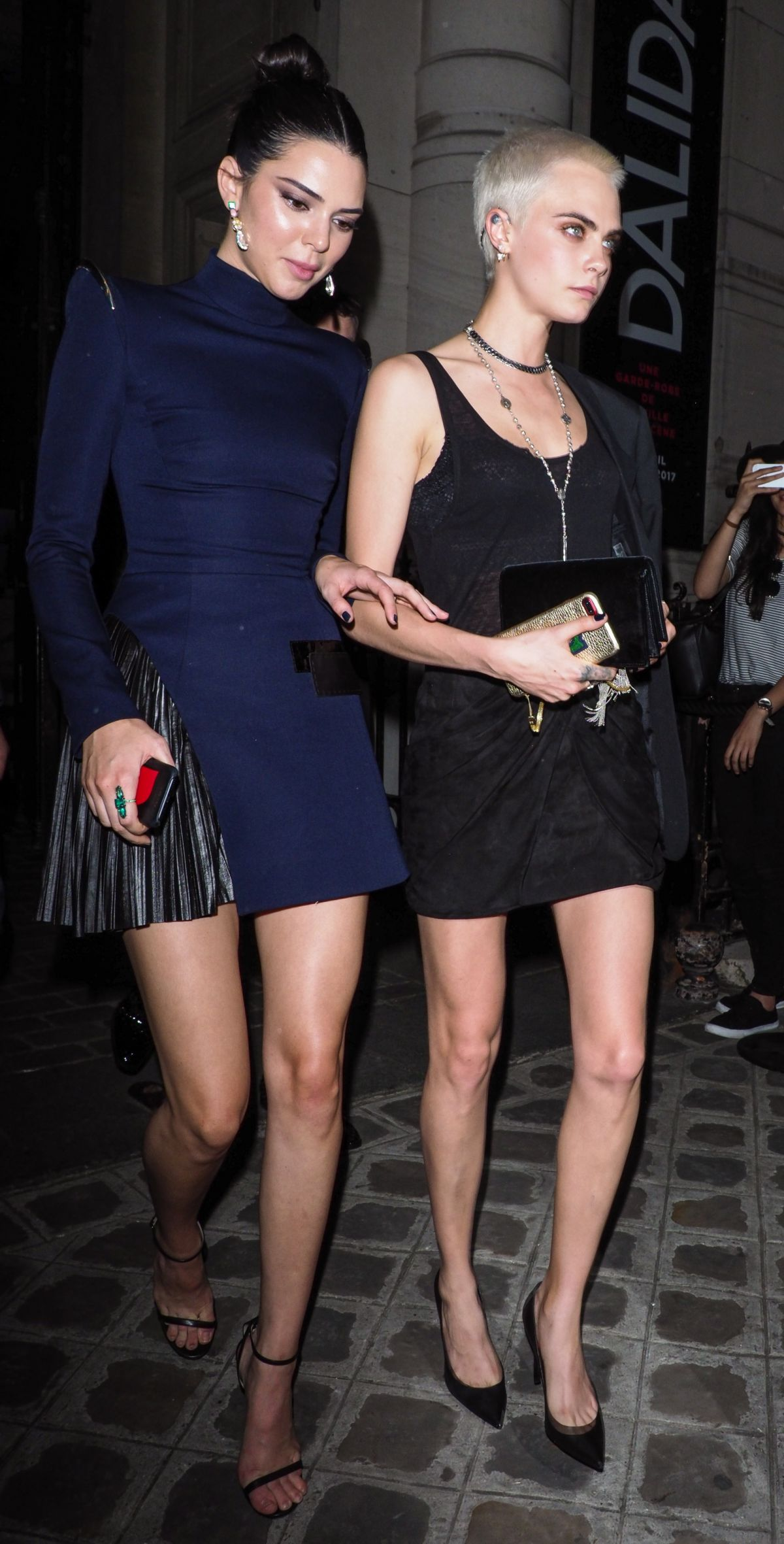 CARA DELEVINGNE and KENDALL JENNER at Vogue Party at Paris Fashion Week 07/04/2017