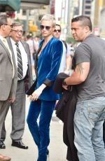 CARA DELEVINGNE Arrives at Late Show with Stephen Colbert in New York 07/20/2017