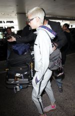 CARA DELEVINGNE Arrives at LAX Airport in Los Angeles 07/15/2017