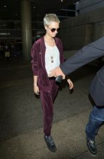 CARA DELEVINGNE Arrives at LAX Airport in Los Angeles 07/29/2017