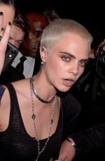 CARA DELEVINGNE at Vogue Party at Paris Fashion Week 07/04/2017