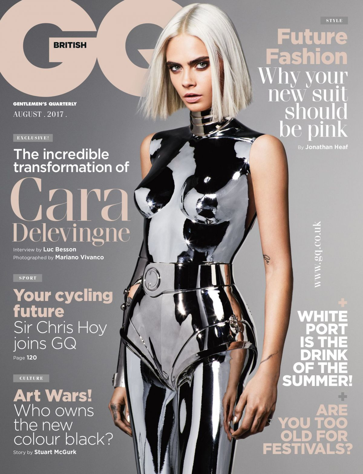 CARA DELEVINGNE for GQ Magazine, UK August 2017