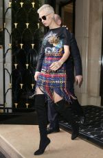 CARA DELEVINGNE Out and About in Paris 07/05/2017