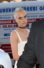 CARA DELEVINGNE Out at Haute Couture Fashion Week in Paris 07/03/2017