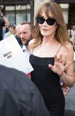 CARLA BRUNI Leaves Jean Paul Gaultier Fashion Show at Haute Couture Fashion Week in Paris 07/05/2017