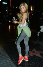 CARLA HOWE Leaves Late Night Workout Session in Hollywood 07/08/2017
