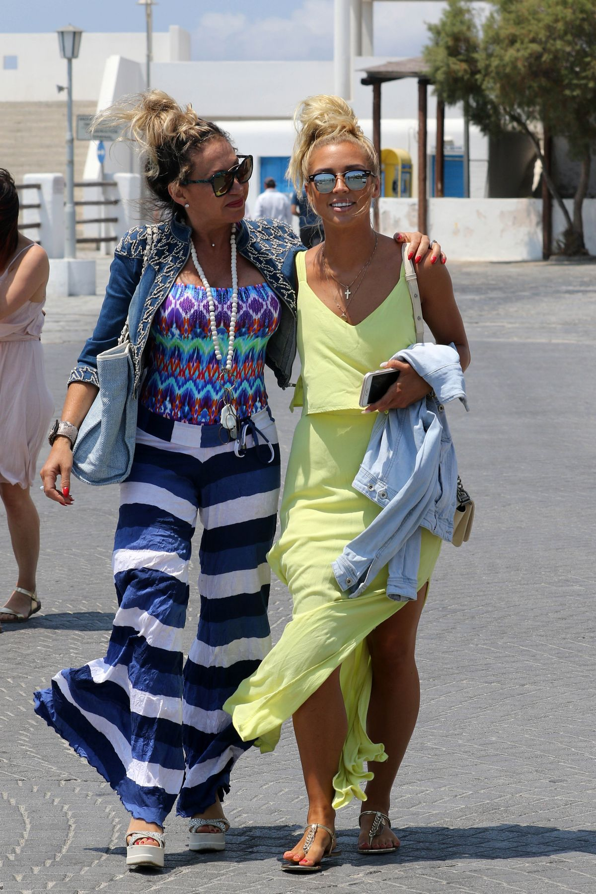 CARMEN GEISS and ANETA SABLIK Out in Mykonos 07/15/2017