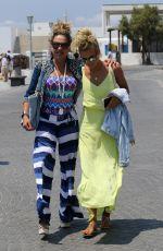 CARMEN GEISS and ANETA SABLIK Out in Mykonos 07/15/2017