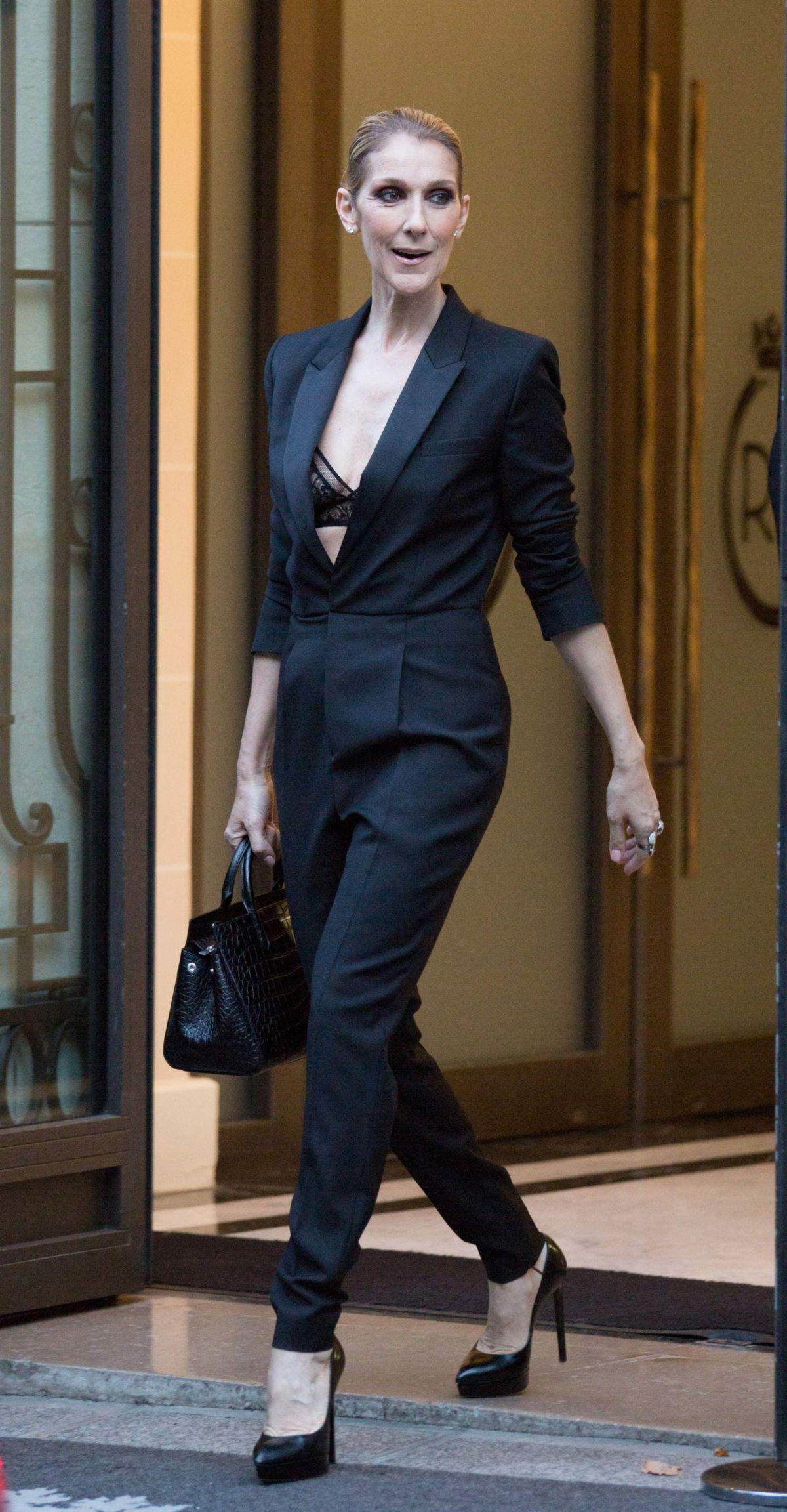 Celine Dion At Royal Monceau Hotel In Paris 07 21 2017