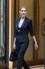 CELINE DION at Royal Monceau Hotel in Paris 07/21/2017
