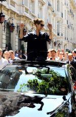 CELINE DION Leaves Her Hotel in Paris 07/04/2017