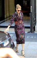 CELINE DION Leaves Her Hotel in Paris 07/05/2017